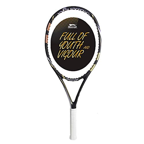Tennis Racket Raqueta de Tenis Profesional para Estudiantes universitarios Principiantes Individuales Raqueta de Tenis de Entrenamiento Profesional avanzado Raqueta de Tenis de Fibra de Carbono