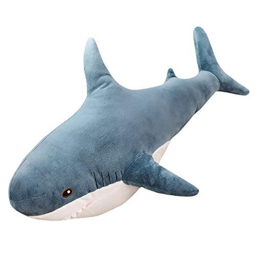 DQYFZQ Juguete de Peluche Tiburón Decoración Hogar Juguetes Muñecas Navidad Cumpleaños Regalos,Azul,140cm