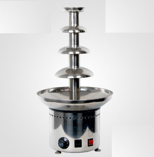 Yooann 8060 Auger Stainless Steel Large 4 Tiers Commercial Chocolate Fountain Machine