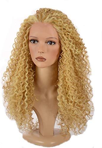 Haar hellblond Mix lange Spirale Afro Curl Perücke/Lace Front Queen B Perücke/im Stil von Beyonce