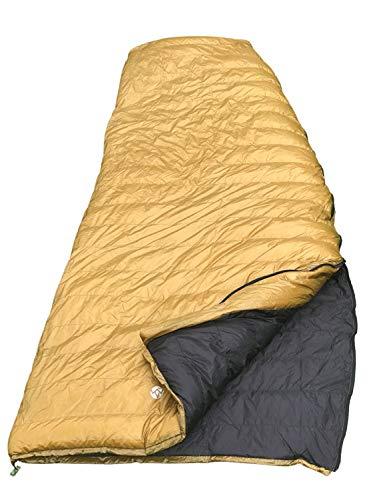 AEGISMAX UL Gänsedaunen Schlafsack konisch rechteckig Daunen Schlafsack Super Light Rucksackreisen Umschlag Down Bag 800 Füllen Gold (L)