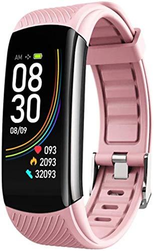 Reloj inteligente de 0.96 pulgadas pantalla a color hombres y mujeres reloj de pulsera IP67 impermeable natación correr podómetro monitoreo de frecuencia cardíaca para Android iOS