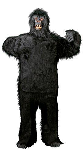 Foxxeo Premium Gorilla Kostüm für Herren Tier Erwachsene zu Halloween Fasching Karneval Größe L