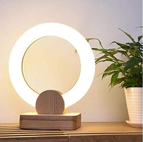 Lámpara de Mesa Lámpara de Escritorio Personalidad Creativa Lámpara de Noche Vertical de Madera Luz de Trabajo Lámpara de Oficina para Dormitorio Estudio Sala de Estar, A, 30Cm