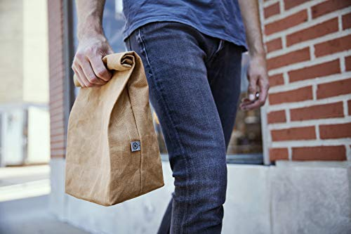 Product Image 5: Colony Co. Lunch Bag, Waxed Canvas, Durable, Plastic-Free, For Men, Women and Kids, Gray