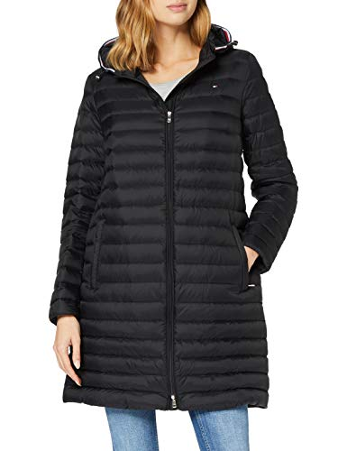 Tommy Hilfiger Damen Th Ess Lw Down Packable Coat Jacke, Black, XL