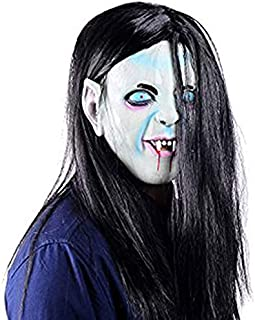 Ohuhu Scary Halloween Mask Zombie Mask with Hair