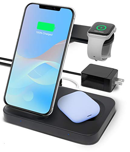 3-in-1 wireless charging station for Apple and Android devices
