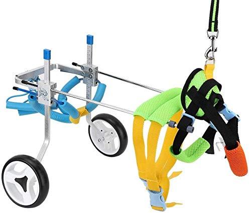 Silla de ruedas para perros, silla de ruedas ajustable para perros, fácil de instalar y desmontar, para rehabilitación de patas traseras