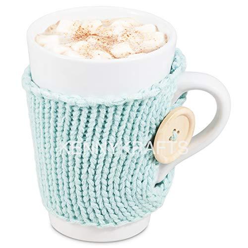 Geschenk-Set für heiße Schokolade, mit Schokoladenmischung, kuscheligem Pullover, Marshmallows und Schneebesen, Türkis