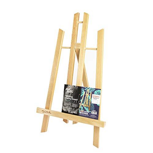 Mont Marte Caballete Mesa pequeña de madera de Haya – Medio – Caballete compacto – Ideal para la presentación de Lienzos de hasta 40 cm – Ideal para Eventos, Exhibiciones y Convenciones