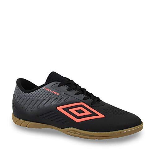 Tênis Futsal Indoor Neo Geo - Grafite, Cor: Preto/grafite/reef, Tamanho: 44