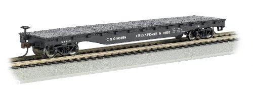 Bachmann Trains - 52' Flat Car - CHESAPEAK & OHIO - HO Scale