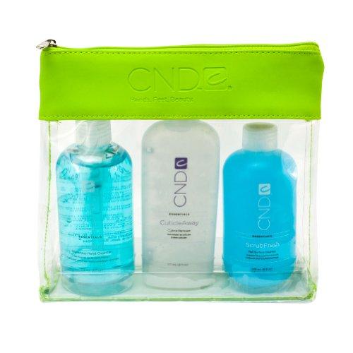 CND Essentials Nail PREP PACK Cool Blue Cuticle Away Scrub Fresh Sanitizer Cl.