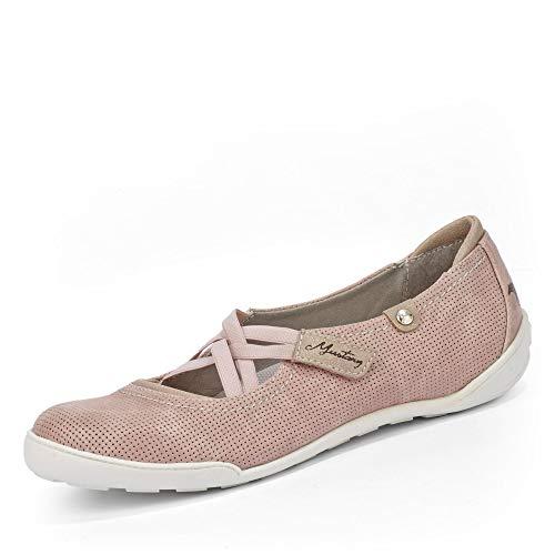 MUSTANG Damen Ballerinas Rosa, Schuhgröße:EUR 44