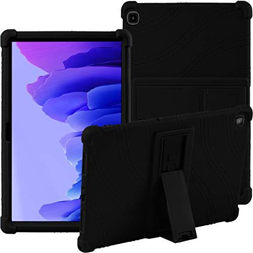 Hülle für Samsung Galaxy Tab A7 2020 (T505/T500/T507) 10.4 Zoll Tablet- Stand Silikon Weich Beutel Hüllen -Schwarz