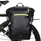 Rhinowalk 24L Bolsa Alforja Trasera para Bicicleta, Multifunción Bolsa Bicicleta para Portaequipajes Asiento Trasero para Carretera MTB Bicicleta de Montaña Moto (Negro)