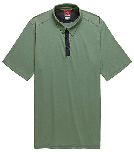 Gerry Men's Quick Dry Short Sleeve Polo Shirt (Olive, Large)