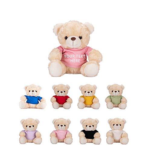 Osito de Peluche Personalizable, Juguetes de Peluche de Animales, Bonito muñeco de Oso de Peluche, Texto Personalizado en la Camisa, los Mejores Regalos para familias, niños y Parejas