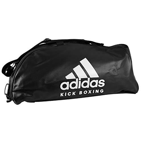 adidas 2in1 Bag PU Kickboxing L Sac de Sport Mixte, Noir/Blanc, 723434 cm