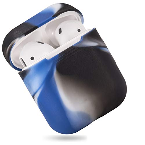 EYEKOP AirPods Case, Premium Ultra-Thin Soft Skin Cover Compatible with Apple AirPods 2 & 1 - Navy Blue