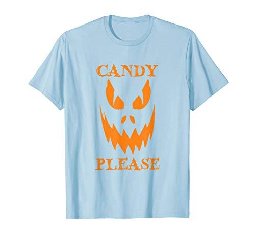 Süßigkeit Bitte Scary Halloween Kürbis Jack O Lantern T-Shirt