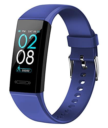 AIEOE Smartwatch 1.14Inch Pulsómetro Reloj Actividades a Prueba de Agua Cronómetro Monitor de Sueño Grande Pantalla Táctil iOS y Android Podómetro