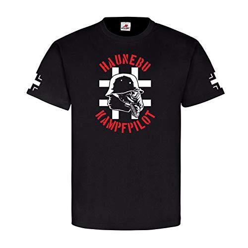 Haunebu Kampfsoldat Soldat Gasmaske - T Shirt #4638, Größe:L, Farbe:Schwarz