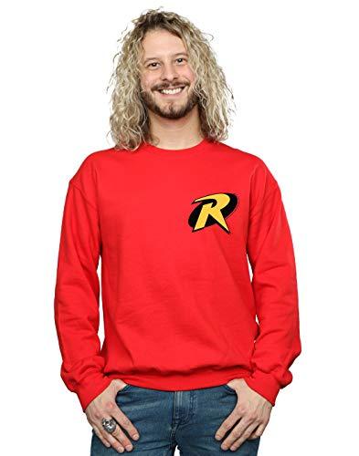 DC Comics Hombre Batman Robin Logo Camisa De Entrenamiento Rojo XX-Large
