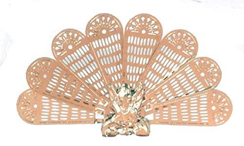 Melody Jane Poupées Laiton Paon Feu Écran Cheminée Miniature Accessoire 1:12 Garde