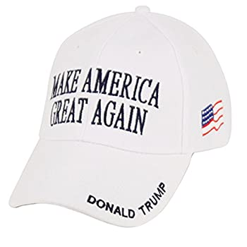Donald Trump Make America Great Again Hats Embroidered  White