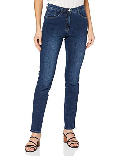 BRAX Mary Crystal Romance Damenjeans: Slim Fit Jeans im 5-Pocket-Style, Blau (Used Regular Blue 25), Gr. W36/L32 (Herstellergröße: 46)