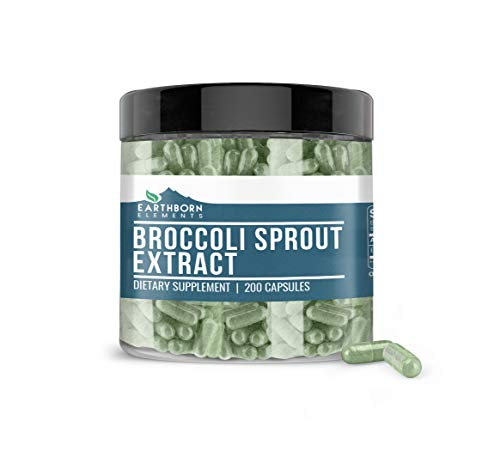 Broccoli Sprout Extract, 200 Capsules, 880 mg per Serving, Pure & Natural Antioxidants with No Stearates or Fillers, Non-GMO & Gluten-Free, Made in USA