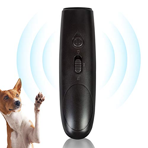 YHmall Anti-Bell-Mittel für Hunde, Hunde Repeller, Handheld Ultraschall-Anti-Barking-Gerät, Anti-Dog-Barking-Gerät mit LED-Lich (schwarz)