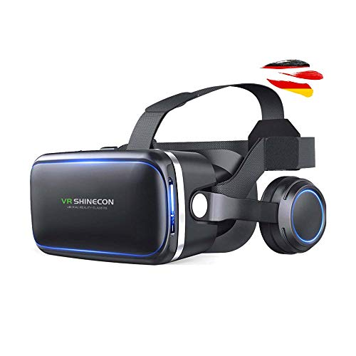 VR-3D Virtual Reality Brille, Universal kompatibel mit vielen Handy-Modelle in der Größe 4 bis 6 Zoll u. a. Samsung, iPhone, Google Sony,Huawei,Xiaomi u.v.a.