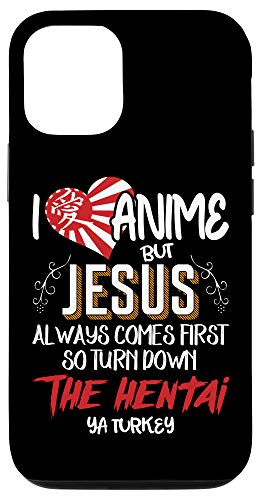 iPhone 12/12 Pro I Love Anime But Jesus Always Comes First - Anime Lover Fans Case