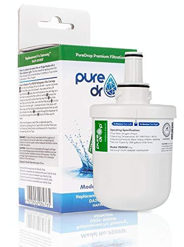 Puredrop PD093F - Filtro acqua e ghiaccio per Samsung DA29-00003F DA29-00003B Aqua Pure Plus HAFIN1/EXP