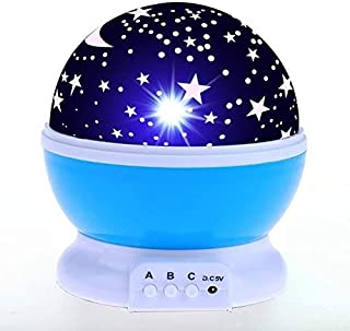 Yx03-04-p-blue Led Night Light Starry Sky Magic Star Moon Planet Space Projector Lamp Universe Decorative Lamp For Lover Friend Kids Xmas Gift