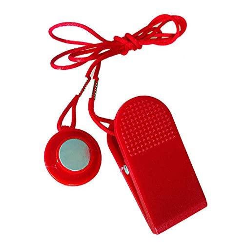 Llave de seguridad universal con imán de cinta de correr universal, kit de repuesto para todas las pistas nórdicas, Proform, Sole, Weslo, Weider, Freemotion y Healthrider caminadoras (rojo) 🔥