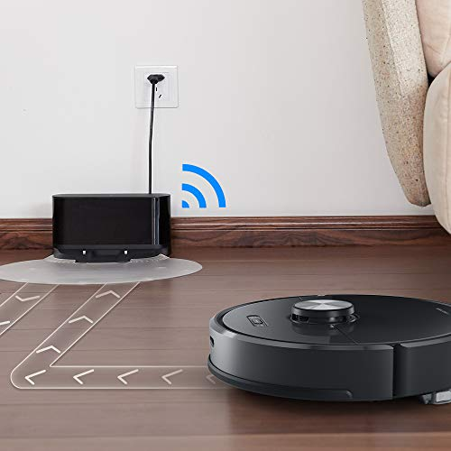 Roborock S5 Robotic Vacuum and Mop Cleaner, 2000Pa Super Power Suction &Wi-Fi Connectivity and Smart Navigating Robot Vacuum with 5200mAh Battery Capacity for Pet Hair, Carpet & Hard Floor