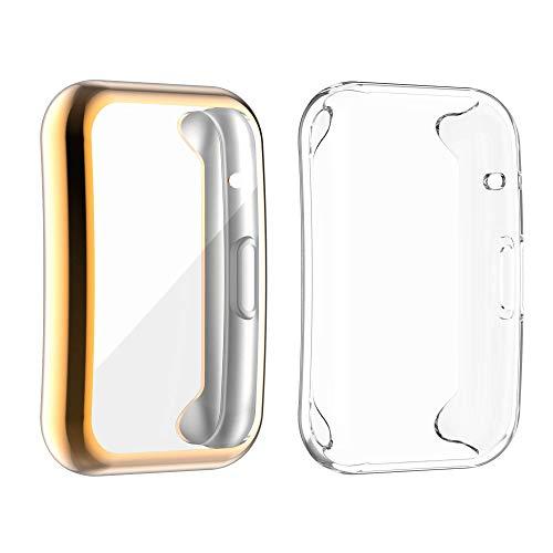 Gehäuse Kompatibel für Huawei Watch Fit Full Cover Gehäuse Displayschutzfolie Soft TPU Kratzfeste Allround-Schutzhülle
