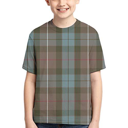Camisetas de niño Fraser Hunting Weathered Tartan Sports Camiseta de Manga Corta para niños