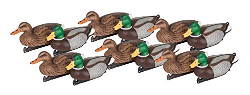 Flambeau Outdoors 1812DPK Masters Series Mallard Decoys, Classic Floaters - 12-Pack