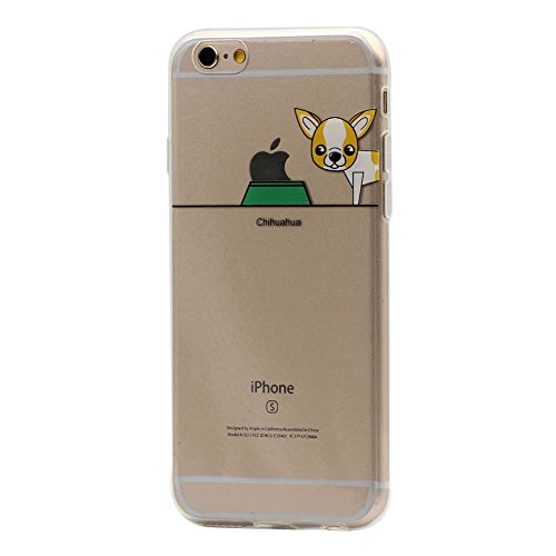Hamyi iPhone 6S Custodia, iPhone 6 Cover in Ultra Sottile Morbida Silicone TPU,Motivo:Cane e Animali Domestici Slim Protettiva Case per Apple iPhone 6/6S (Schermo da 4,7 Pollici) (Chihuahua)