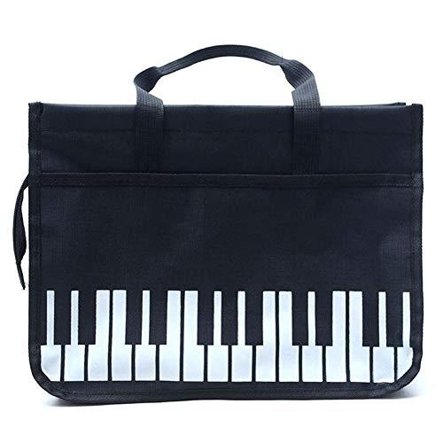 Easy-topbuy Klaviertasten-Einkaufstasche, wasserdichte Oxford-Stoffhandtasche Musik-Einkaufstasche, Einfaches, Großzügiges Aufbewahrungspaket Mit Exquisitem Nähfaden, 14,56 X 10,9 X 4,33 Zoll