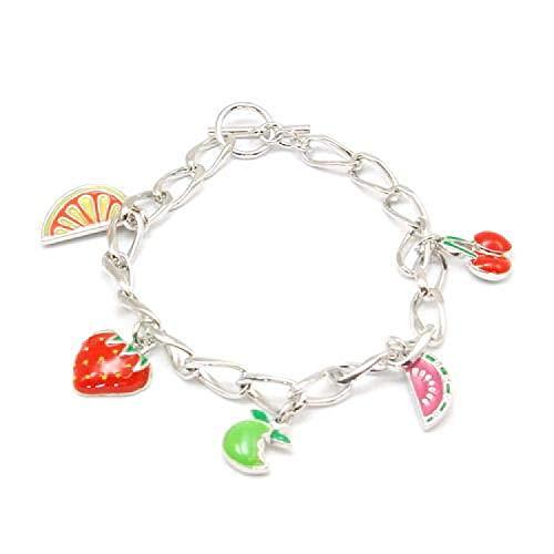 Foxy Früchte Anhänger 17 cm Armband mit T-Schliesse