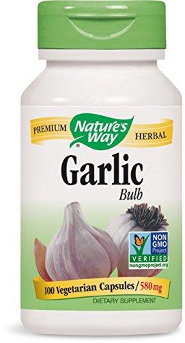 Nature's Way Garlic Bulb, 580mg, 100 Capsules (Pack of 2)
