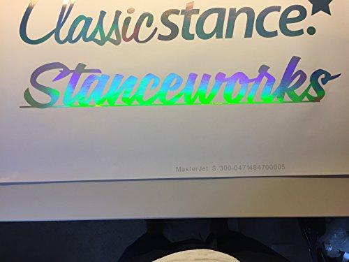 Stanceworks Aufkleber NEW Oilslick Bunt 3d Glitzer Folie Holgramm Holographic silver lazer Autoaufkleber XL Frontscheibe Tuningaufkleber NEW WOW FUN Decal dub oem jdm sticker