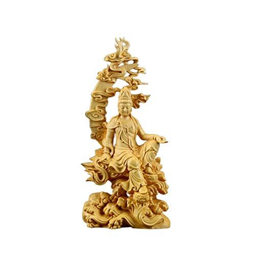 LKXZYX Decorativos Figuras Salon candelabros de Jardin Exterior Miniatura,Escritorio Chino Boj Guanyin...