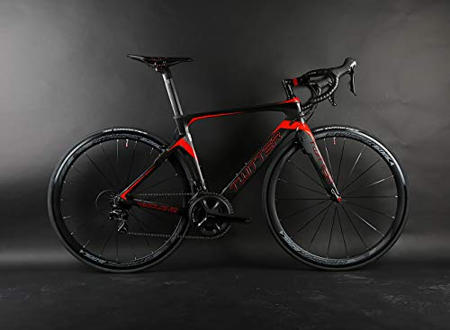 Twitter Bike Road Cyclone Full Carbon Rahmen Carbon Wheels 50mm Size 47.5